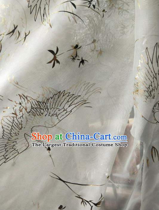 Traditional Chinese Hanfu White Chiffon Fabric Classical Material