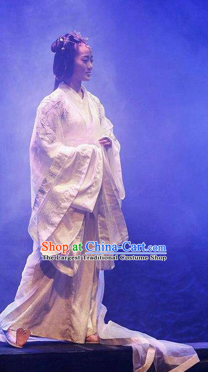 Chinese Drama Shang Yang Court Dance Dress Stage Performance Costume and Headpiece for Women