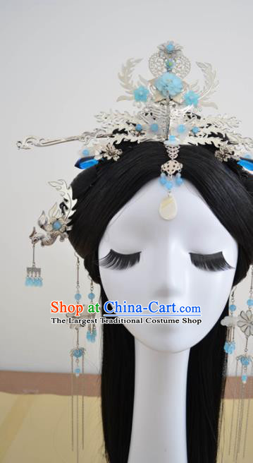 Traditional Chinese Classical Hairpins Phoenix Hair Crown Ancient Princess Hanfu Hair Accessories for Women