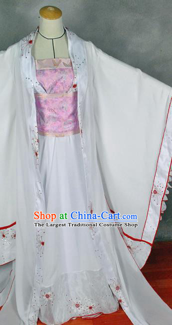 Chinese Cosplay Goddess Princess Dress Ancient Female Swordsman Knight Wedding Costume for Women