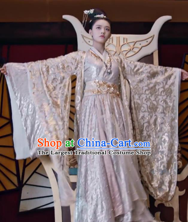 Fights Break Sphere Ancient Chinese Royal Princess Xiao Xuner Lin Yun Hanfu Dress Costumes for Women
