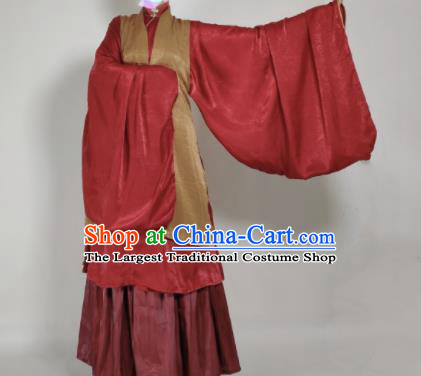 Chinese Ming Dynasty Princess Khaki Vest Ancient Court Lady Costume for Women