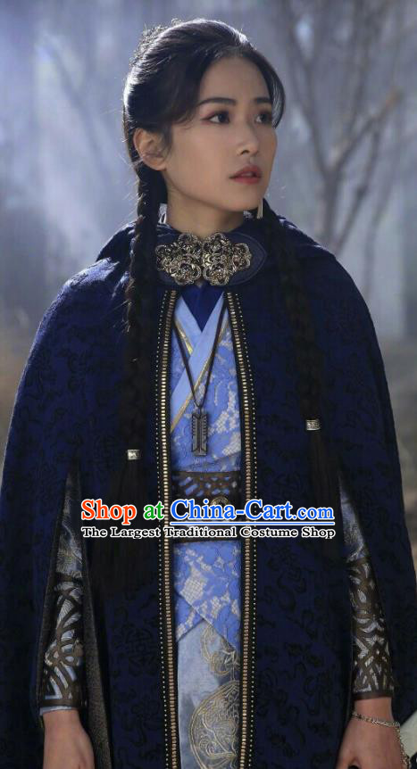 Chinese Drama Fights Break Sphere Ancient Nobility Lady Swordsman Nalan Yanran Hanfu Dress for Women