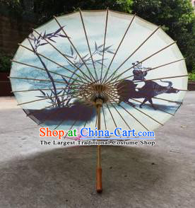 Chinese Classical Dance Handmade Ink Painting Cowboy Paper Umbrella Traditional Decoration Umbrellas