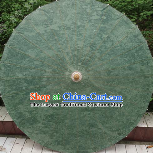 Chinese Classical Dance Handmade Green Paper Umbrella Traditional Decoration Umbrellas