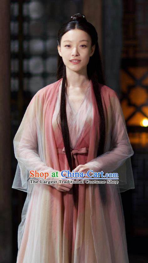 Chinese Ancient Fairy Princess Dress Drama Love and Destiny Swordsman Ling Xi NiNi Costumes and Headpiece for Women