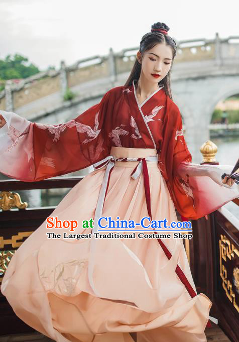 Traditional Chinese Classical Dance Hanfu Dress Stage Show Costume for Women