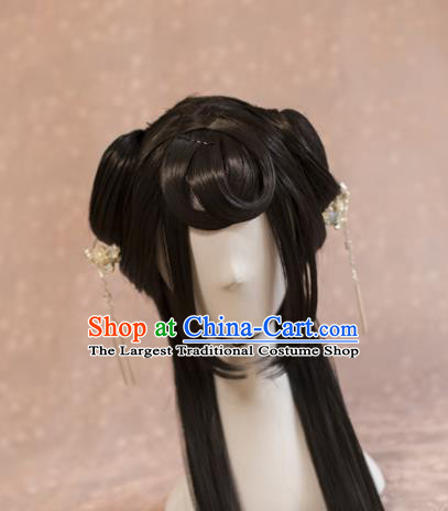 Traditional Chinese Ancient Princess Wigs Cosplay Goddess Chignon for Women