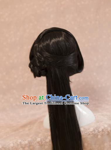 Traditional Chinese Ancient Princess Wigs Han Dynasty Cosplay Goddess Chignon for Women
