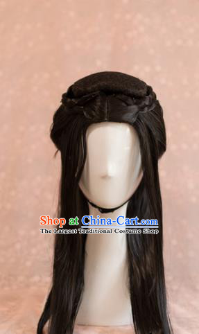 Traditional Chinese Ancient Tang Dynasty Princess Wigs Cosplay Goddess Chignon for Women