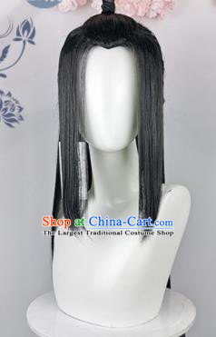 Traditional Chinese Cosplay Swordsman Wigs Sheath Ancient Taoist Chignon for Men