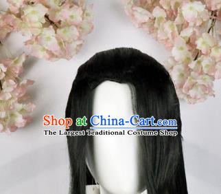 Traditional Chinese Cosplay Swordsman Black Wigs Sheath Ancient Taoist Chignon for Men