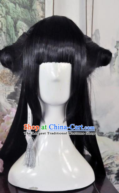 Traditional Chinese Cosplay Young Lady Wigs Sheath Ancient Goddess Princess Chignon for Women
