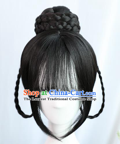 Traditional Chinese Cosplay Tang Dynasty Palace Princess Wigs Sheath Ancient Flying Apsaras Chignon for Women