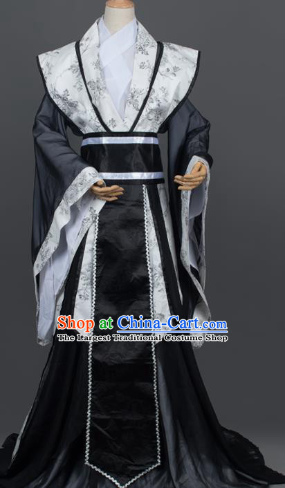 Traditional Chinese Cosplay Royal Highness Prince Costumes Ancient Swordsman Hanfu Clothing for Men