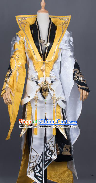 Traditional Chinese Cosplay General Costumes Ancient Swordsman Hanfu Clothing for Men