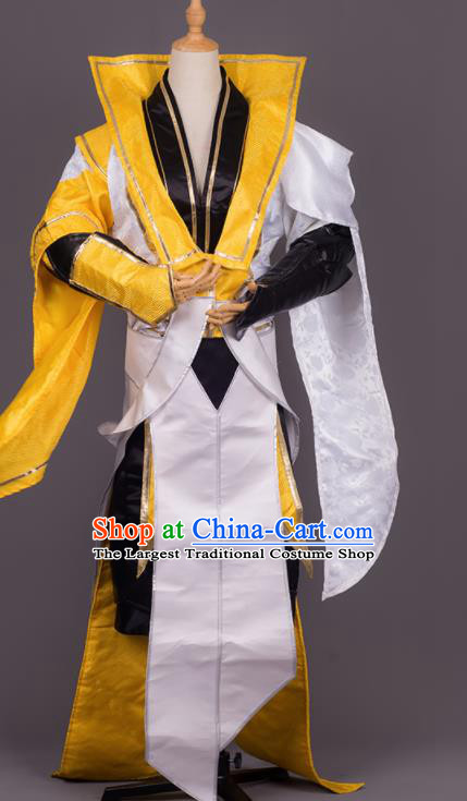 Traditional Chinese Cosplay Crown Prince Costumes Ancient Swordsman Hanfu Clothing for Men