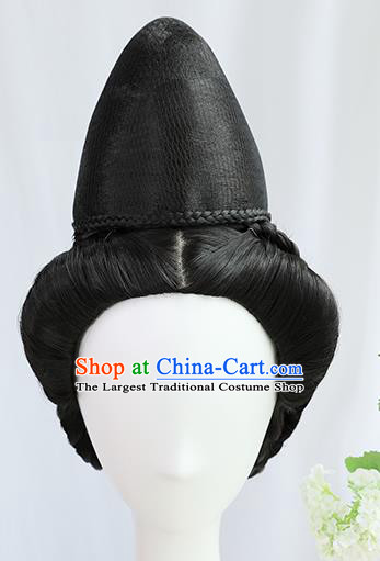 Traditional Chinese Cosplay Ming Dynasty Queen Wigs Sheath Ancient Taoist Nun Chignon for Women