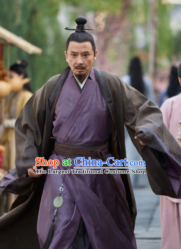 Drama Love and Destiny Chinese Ancient Milord Lin Shaohai Replica Costumes and Headpiece for Men