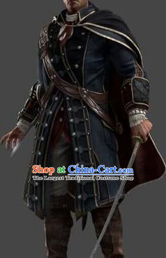 Top Grade Cosplay Assassin Costumes Halloween Swordsman Clothing for Men