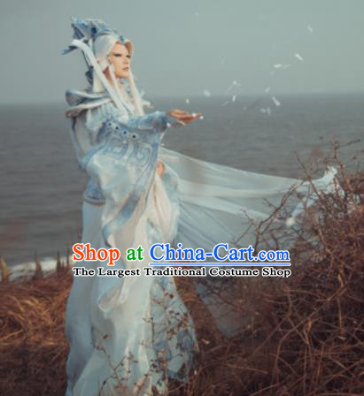 Customize Chinese Traditional Cosplay Monarch God Costumes Ancient Swordsman King Clothing for Men
