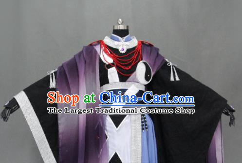 Customize Chinese Traditional Cosplay Taoist Priest Costumes Ancient Swordsman Clothing for Men