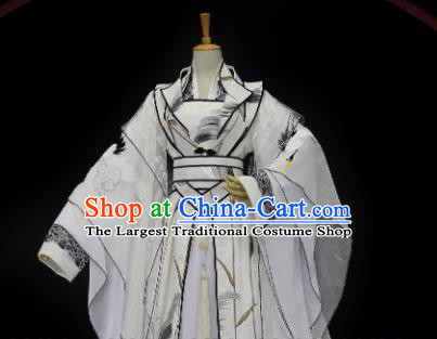 Traditional Chinese Cosplay Empress Ye Zhen White Dress Ancient Drama Female Swordsman Costumes for Women