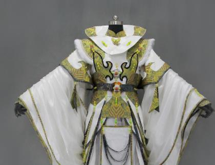 Customize Chinese Traditional Cosplay Monarch King Olive Green Costumes Ancient Swordsman Clothing for Men