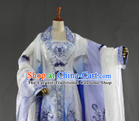 Traditional Chinese Cosplay Goddess Empress Song Ning Dress Ancient Drama Female Swordsman Costumes for Women