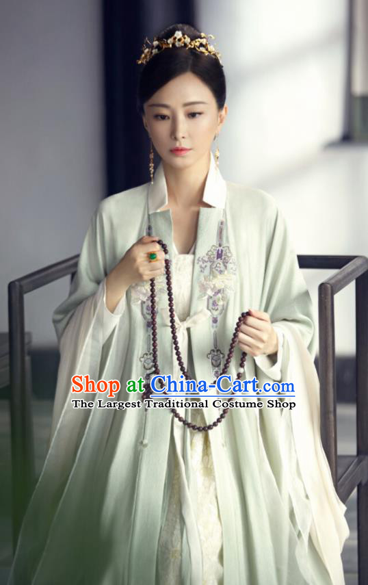 Love and Destiny Ancient Chinese Drama Aristocratic Dowager Pei Yun Replica Costumes and Headpiece for Women