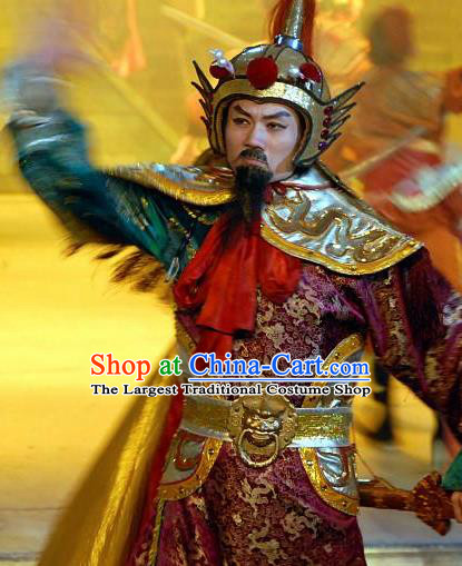 Chinese Night Of West Lake Ancient General Clothing Stage Performance Dance Costume for Men