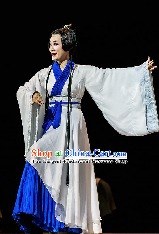 Chinese Drama Prince of Lanling Ancient Princess Consort Dress Stage Performance Dance Costume and Headpiece for Women