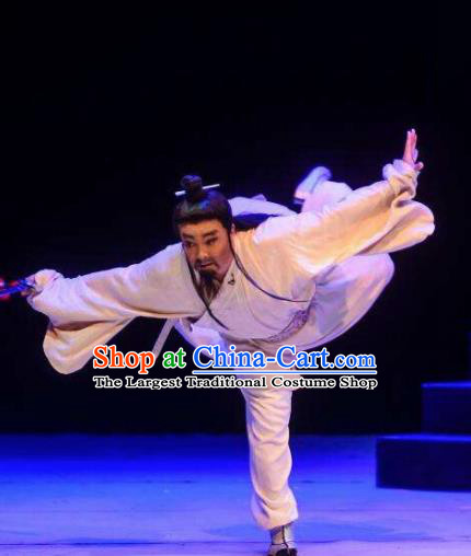 Chinese Drama Guangling Verse Ancient Jin Dynasty Old Scholar Clothing Stage Performance Dance Costume for Men