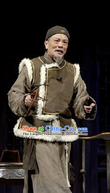 Chinese Drama Traditional Remedy Qing Dynasty Old Civilian Clothing Stage Performance Dance Costume for Men