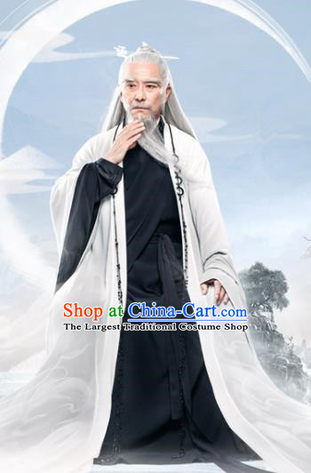 Chinese Ancient Heavenly Supreme Lord Drama Love and Destiny Swordsman Replica Costumes for Men