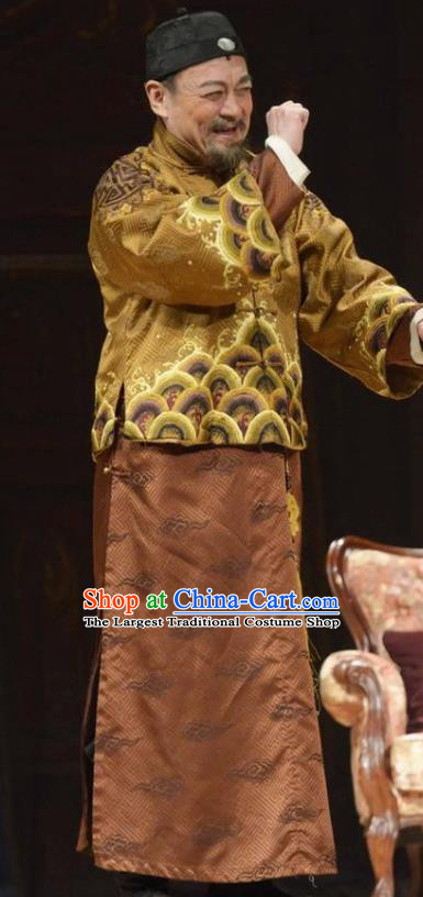 Chinese Unsurpassed Beauty Of A Generation Ancient Qing Dynasty Landlord Clothing Stage Performance Dance Costume for Men