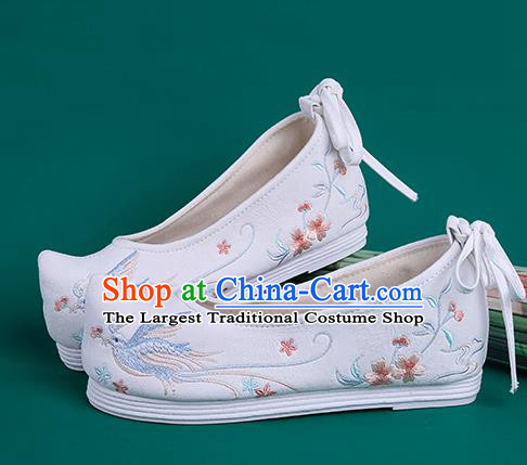 Chinese Traditional Embroidered White Cloth Shoes Hanfu Shoes Princess Shoes for Women