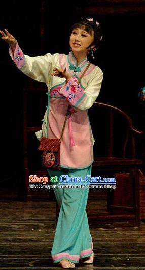 Chinese Moon Shines On Sugarbush Ferry Folk Dance Pink Dress Stage Performance Dance Costume and Headpiece for Women