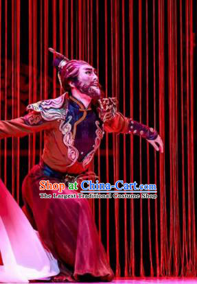Lady Zhaojun Chinese Han Dynasty Mongol Nationality King Clothing Stage Performance Dance Costume for Men