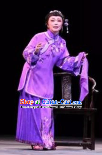 Chinese Moon Shines On Sugarbush Ferry Dance Purple Dress Stage Performance Dance Costume and Headpiece for Women