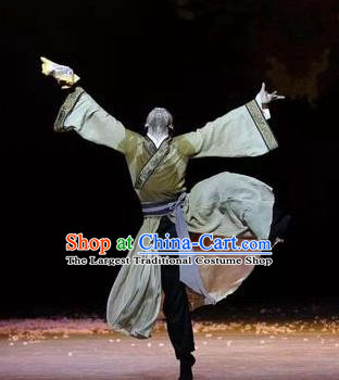Su Dongpo in Hainan Chinese Classical Dance Clothing Stage Performance Dance Costume for Men