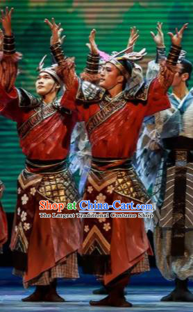 Sunsets Chinese Classical Dance Ancient Warrior Clothing Stage Performance Dance Costume for Men