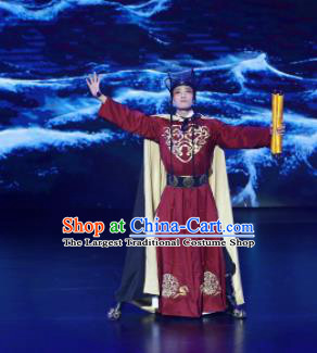 Meet Millennium Chinese Ancient Eunuch Clothing Stage Performance Dance Costume for Men