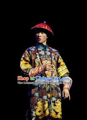 The Summer Palace Chinese Peking Opera Royal Highness Clothing Stage Performance Dance Costume and Headpiece for Men