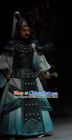 Xiao Qiao Marriage Chinese Peking Opera General Clothing Stage Performance Dance Costume and Headpiece for Men