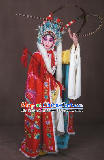 Han Consort Ming Chinese Peking Opera Diva Dress Stage Performance Dance Costume and Headpiece for Women