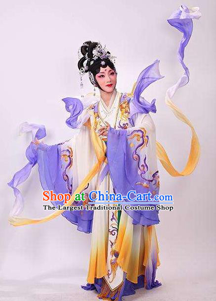 Goddess of the Moon Chinese Classical Dance Dress Stage Performance Dance Costume and Headpiece for Women