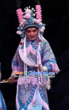 Fan Lihua Chinese Han Opera General Clothing Stage Performance Dance Costume and Headpiece for Men