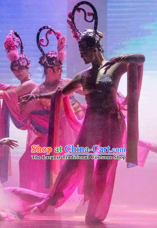 Ganzhou Musical Dance Chinese Classical Dance Dress Stage Performance Dance Costume and Headpiece for Women