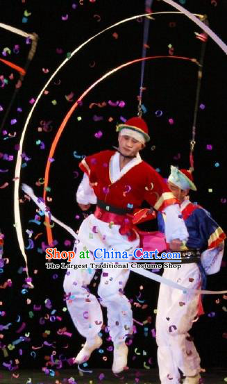 Chinese Traditional Korean Nationality Xiangmao Elephant Hat Dance Clothing Stage Performance Dance Costume for Men